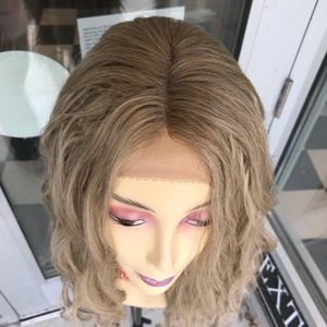 Accessories - Ash Blonde Wig Long New style lace Deep Wave 2019